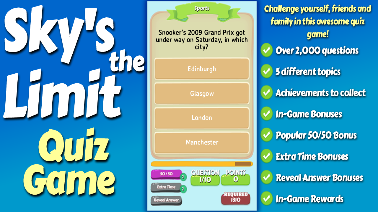 Sky's The Limit Quiz